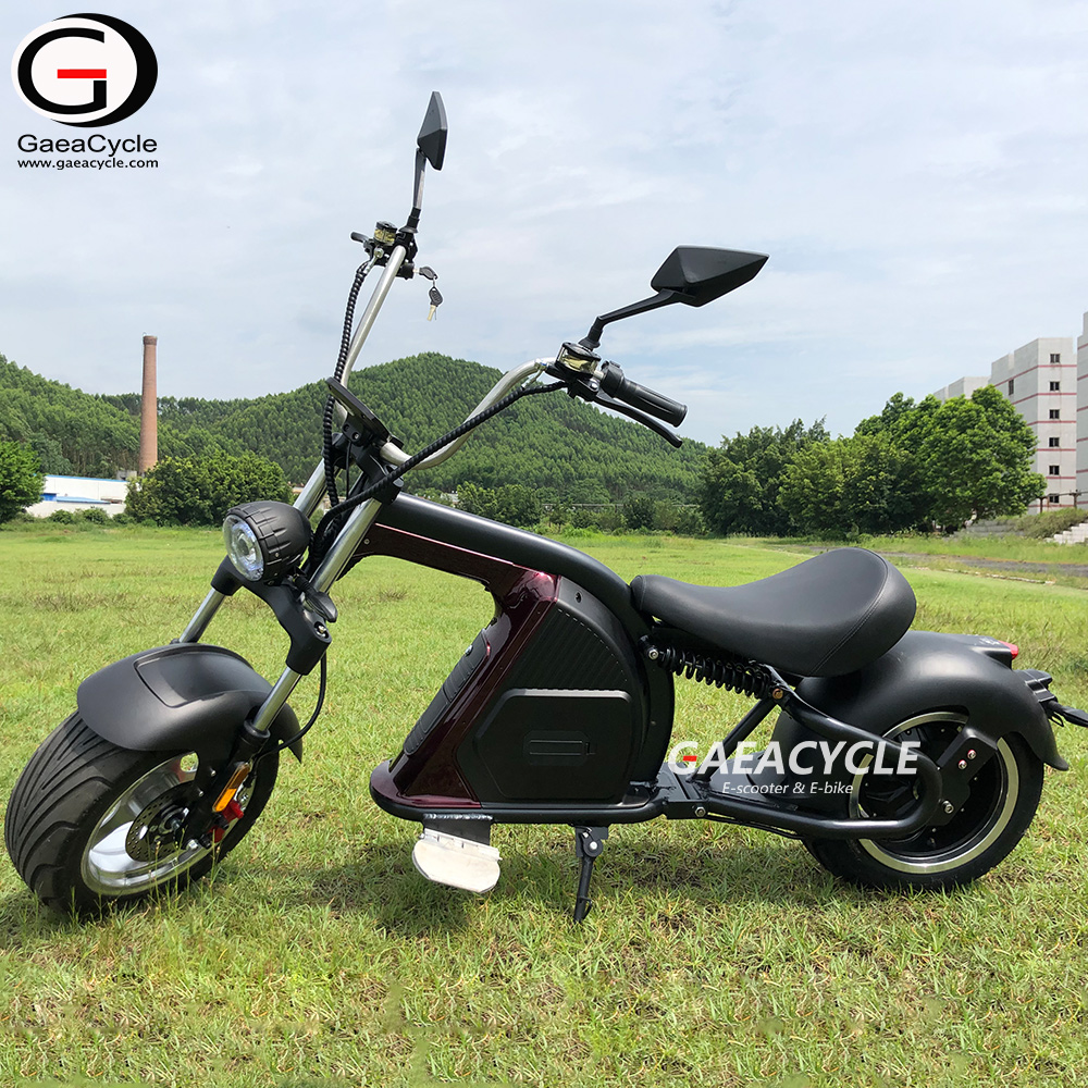3000W Big Power Electric Scooter 60V 30Ah Lithium Battery Citycoco Chopper Style 5A Fast Charger Fast Motorcycle