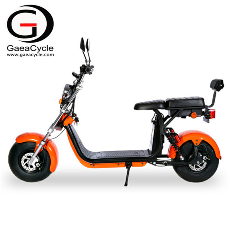 Double Battery Double Front Fork Fat Tire Electric Scooter With EEC